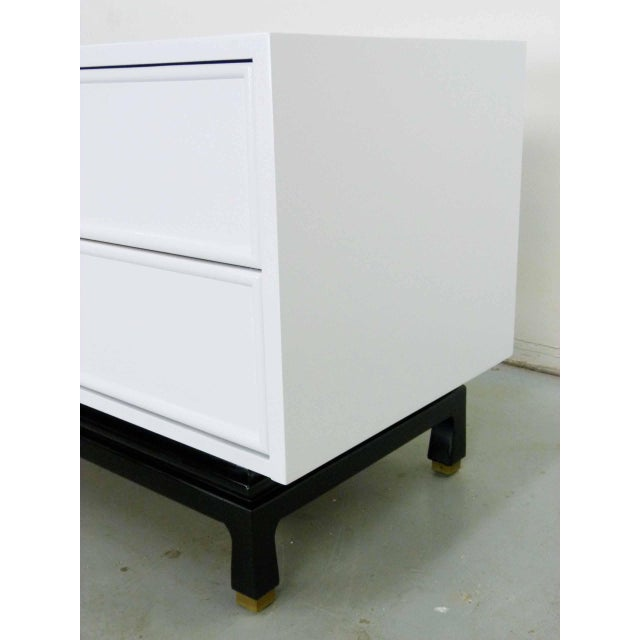 Asian Style White Chest by American Martinsville - Image 5 of 9