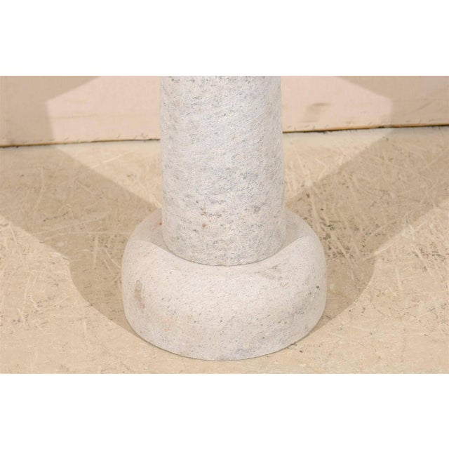 Round Granite Contemporary Indoor/Outdoor Pedestal Table, Handmade For Sale - Image 4 of 8