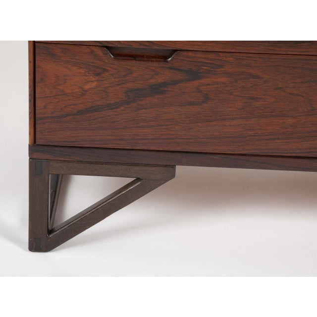 """Svend Langkilde Design Rosewood Dressers on """"Stand Base"""" - a Pair For Sale - Image 11 of 13"""