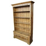Image of Antique English Solid Pine Open Bookcase For Sale