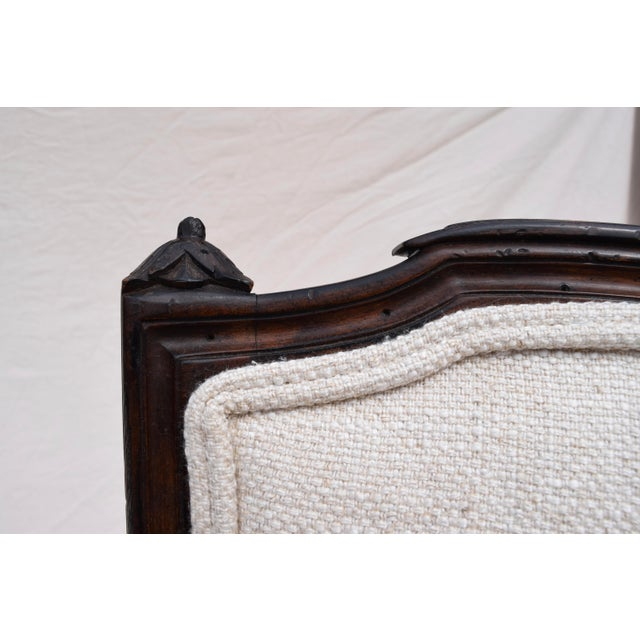 Late 19th Century Louis XVI French Walnut Fauteuil Accent Chair For Sale - Image 5 of 13