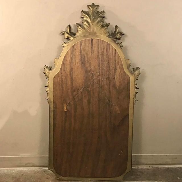 Mid-Century Italian Venetian Gilded Mirror For Sale - Image 12 of 13