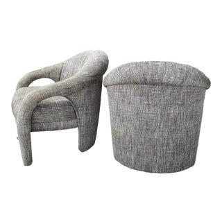 Vladimir Kagan Post-Modern Sculptural Lounge Chairs - a Pair For Sale