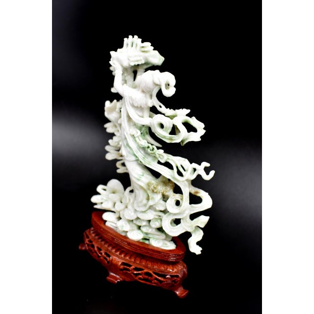 Early 20th Century Exquisite Jadeite Jade Fairy Statue For Sale - Image 5 of 13
