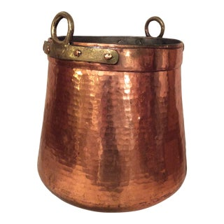 "20""h Copper and Brass Couldron For Sale"