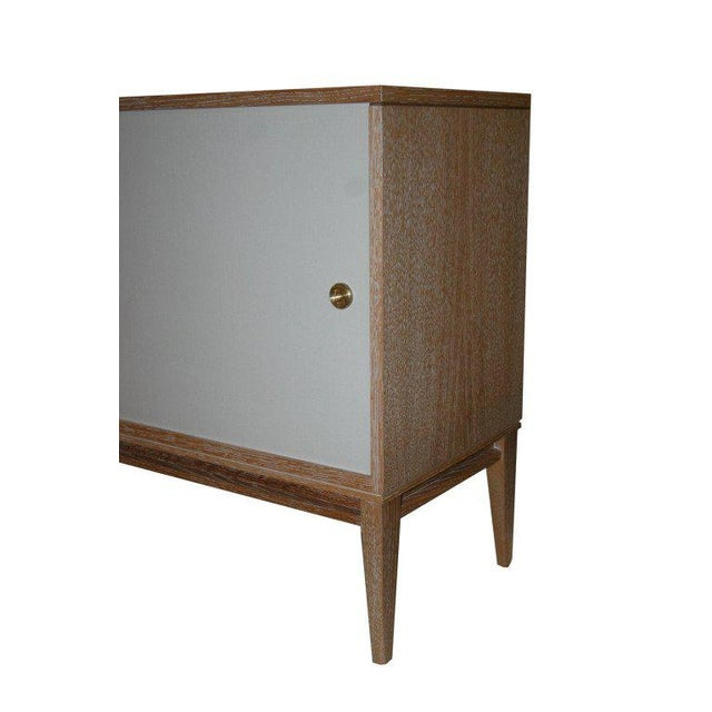 Modern Customizable Bishop Lacquered Linen Door Console For Sale - Image 3 of 9