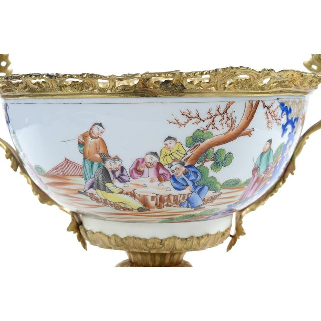 Asian French Chinoiserie Gilt Bronze Mounted Bowl For Sale - Image 3 of 9