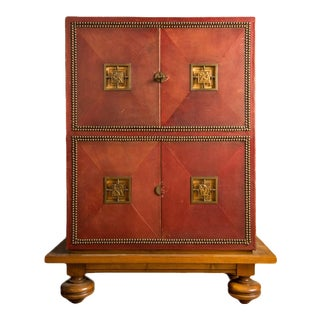 1930 Marcel Claude Renard Art Deco Cabinet For Sale