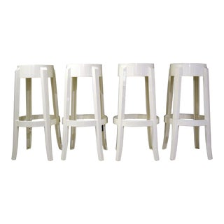 Kartell Charles Ghost Stools - Set of 4 For Sale