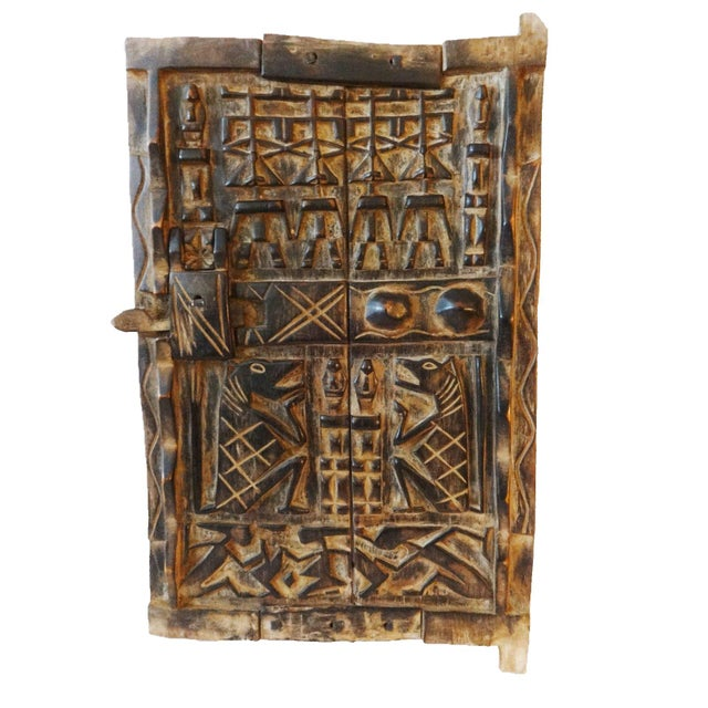 Mali African Dogon Door with Figures - Image 5 of 6