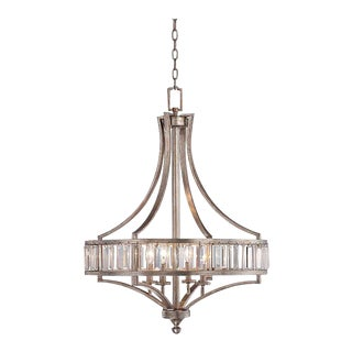 Transitional Crystal Chandelier For Sale
