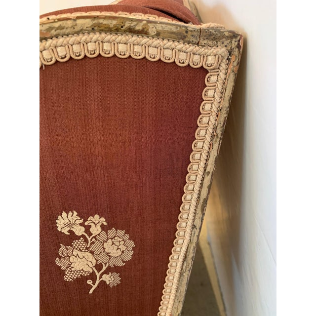 Gorgeous French Louis XV Club Chair Dressed Up in Rose Tarlow Fabric For Sale - Image 9 of 11