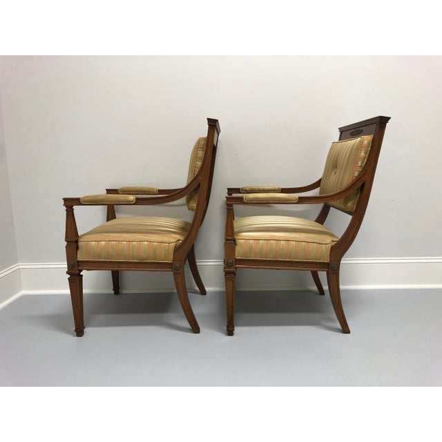 Vintage Mid 20th Century French Provincial Louis XVI Lounge Chairs - a Pair For Sale In Charlotte - Image 6 of 13