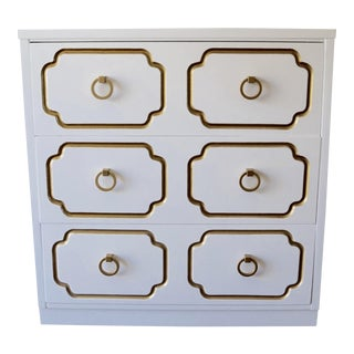 1960s Mid-Century Hollywood Regency Dorothy Draper Inspired Chest For Sale