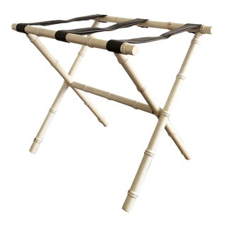 Faux Bamboo Luggage Rack