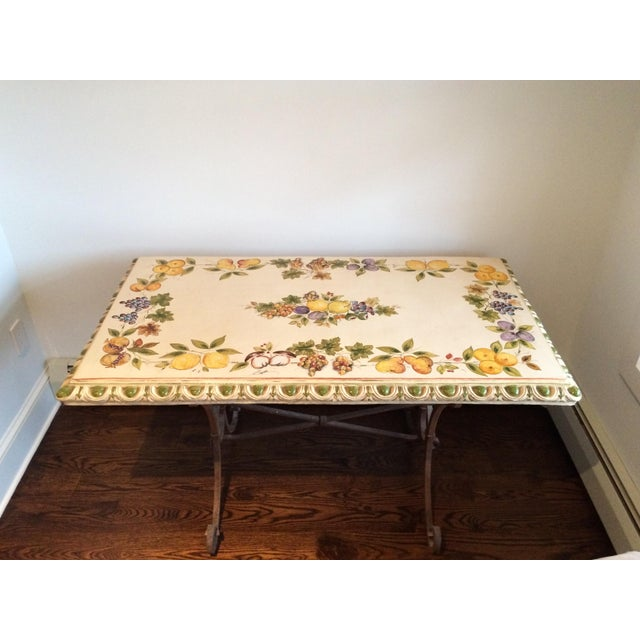 Lillian August Ceramic & Metal Indoor/Outdoor Table - Image 2 of 6
