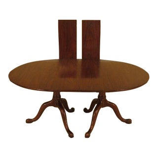 Henkel Harris Solid Mahogany Dining Room Table For Sale