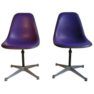 Charles and Ray Eames Adjustable Swivel Chairs - A Pair For Sale