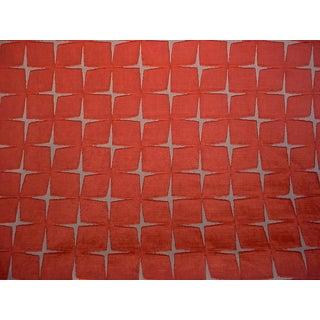 3-1/2y Zoffany Harlequin Issoria Tabasco MId Century Velvet Upholstery Fabric For Sale