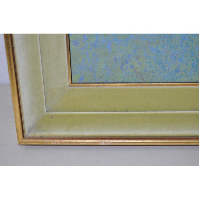 Mid-Century Modern Oil Painting by G. Richardson C.1959 For Sale - Image 4 of 8