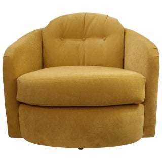 Single Swivel Chair Attributed to Milo Baughman For Sale