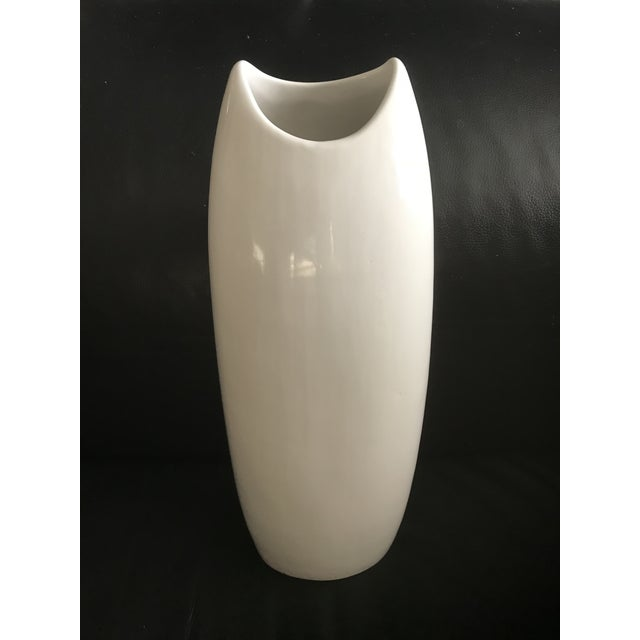 Tall White Ceramic Vase Mid Century Modern Contemporary Chairish