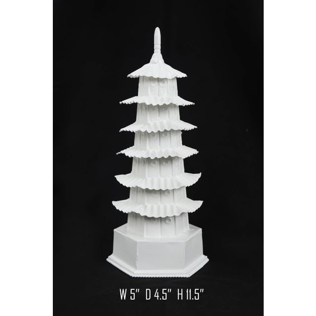 White 1970s Vintage White Pagoda For Sale - Image 8 of 8