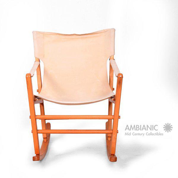Maple Mid-Century Modern Safari Chair Rocker For Sale - Image 7 of 9