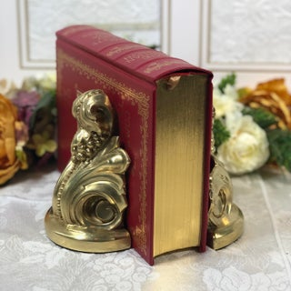 Vintage Victorian Hollywood Regency Metal Brass Paperweight Bookends - a Pair Preview