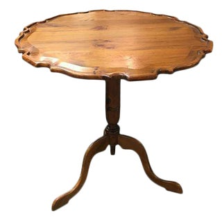 Habersham Plantation Pie Crust Tilt Top Table For Sale