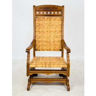 Late 19th Century Victorian Eastlake Cane Rocking Chair Preview