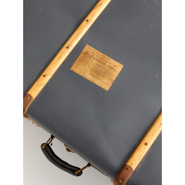 Vintage Steamer Trunk Suitcase For Sale - Image 9 of 10