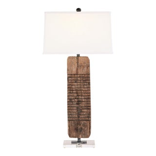 Table Lamp Made From Antique Washboard With Linen Shade For Sale