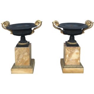 19th Century Italian Grand Tour Sienna Marble Urns - a Pair For Sale