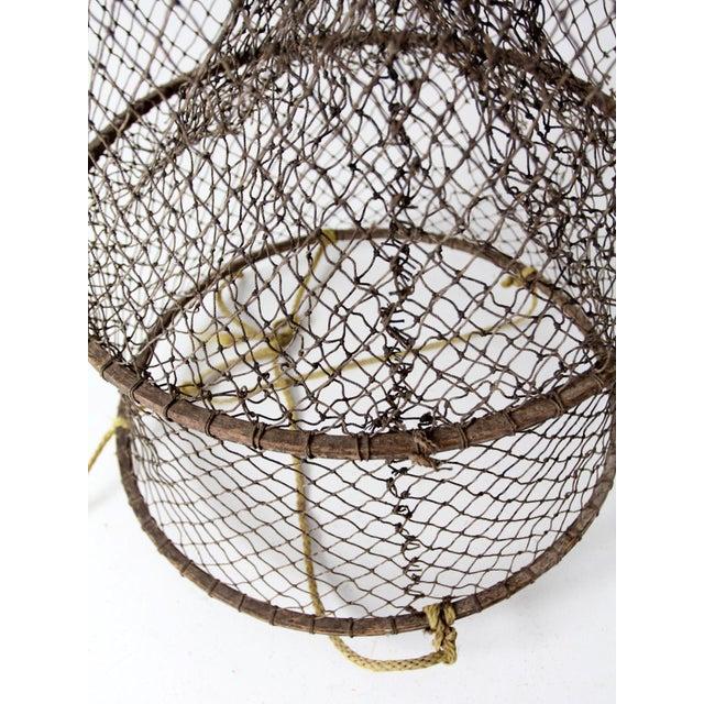 Brown Vintage Fyke Fishing Net For Sale - Image 8 of 9