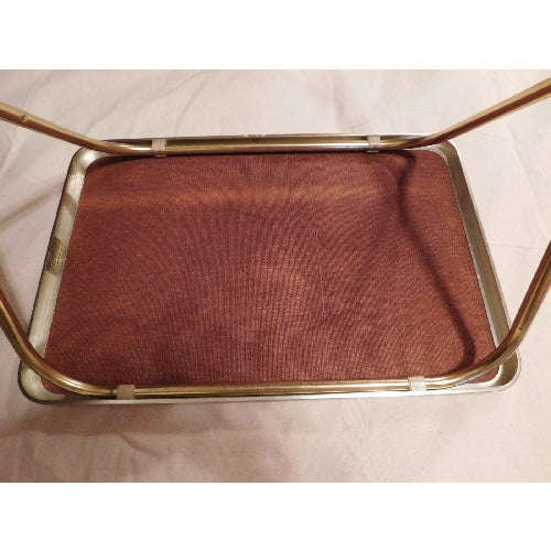 Mid-Century Butterfly/Wheat Design TV Tables - S/3 - Image 6 of 6