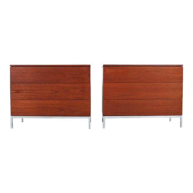 Pair of Teak Dressers by Florence Knoll For Sale