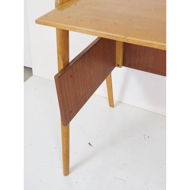 Modern Italian Ico Parisi Style Teak Desk - Image 4 of 5