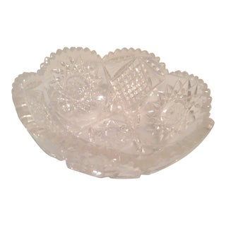Cut Glass Bowl For Sale