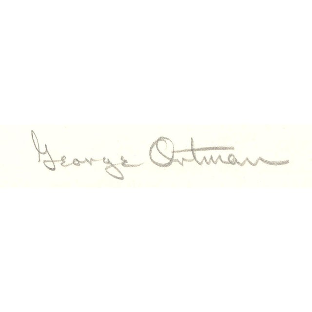 Modern George Ortman-The Baltimore Museum of Art 50th Anniversary Exhibition-SIGNED For Sale - Image 3 of 3