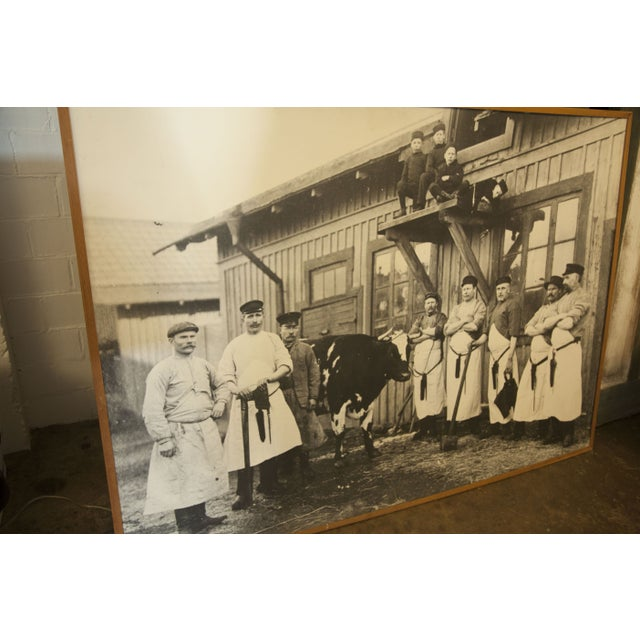 Industrial Large Vintage Butcher Photo For Sale - Image 3 of 4
