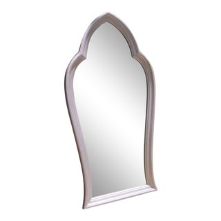 Silvered Cathedral Shaped Mirror