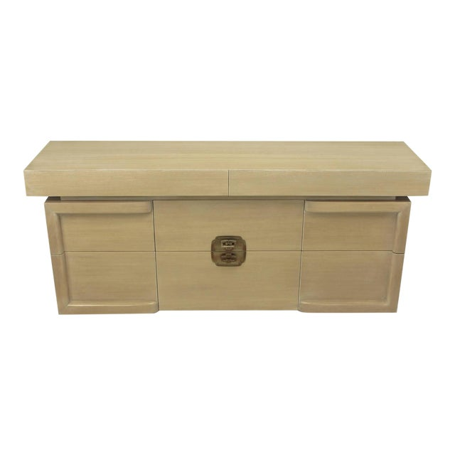 Driftwood Mahogany Eight-Drawer Chest in the Style of James Mont - Image 1 of 10