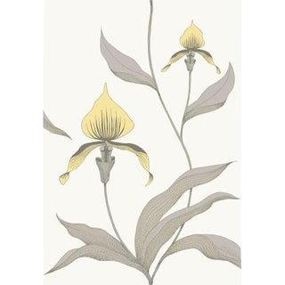 Cole & Son Orchid Wallpaper Roll - Yellow/White For Sale
