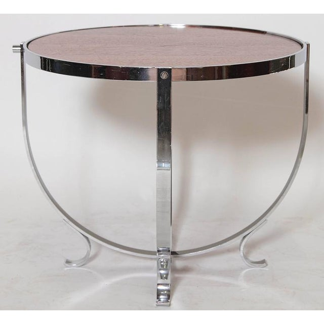 Art Deco Machine Age Art Deco Streamline Cruise Liner or Pullman Car Cocktail Table For Sale - Image 3 of 11