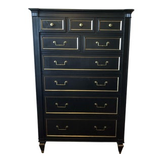 Ethan Allen Black with Gold Finish Armoires For Sale