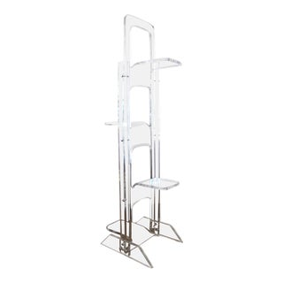 1970's Lucite Plant Stand