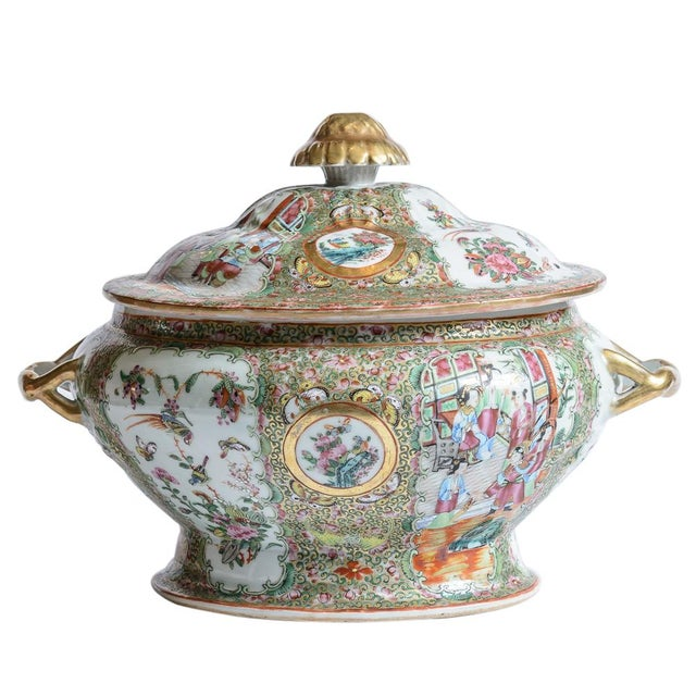 White Rose Medallion Soup Tureen For Sale - Image 8 of 8
