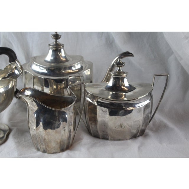 Late 1700s Federal Tea Set of 5 For Sale In New York - Image 6 of 10
