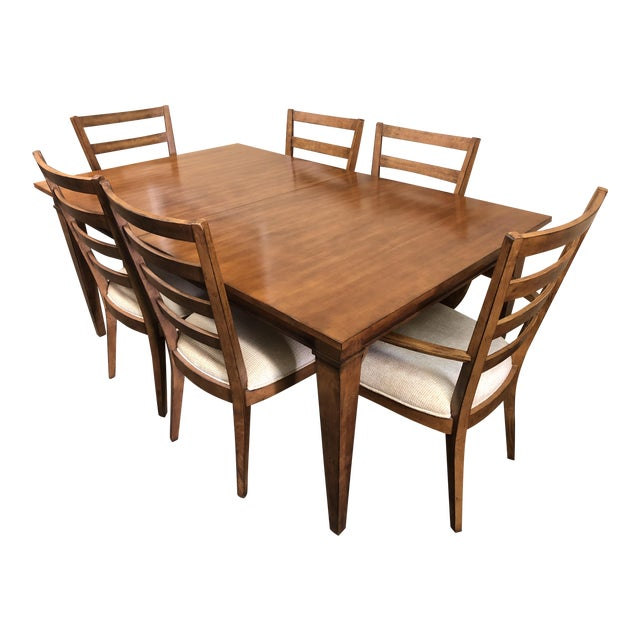 Ethan Allen Dining Set Six Chairs Chairish